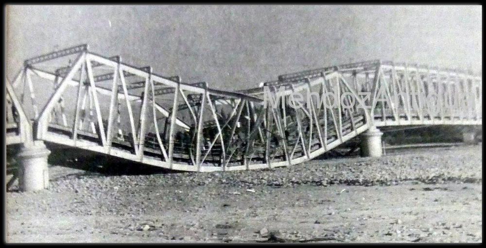 Puente del Rio Mendoza caído 1974 BN